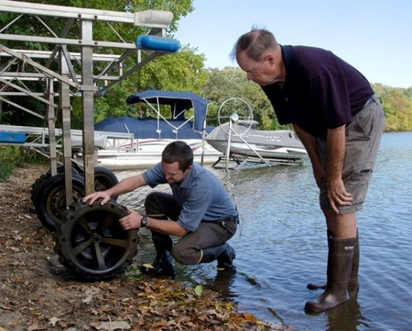 Check for invasive species when removing docks and lifts